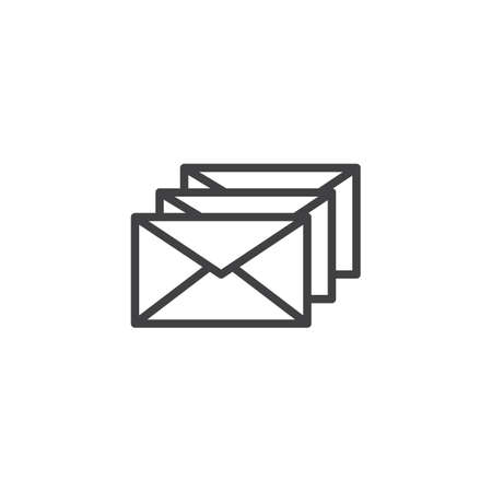 Envelope letters outline icon linear style sign for mobile concept and web design. Mail simple line vector icon pixel perfect vector graphics.
