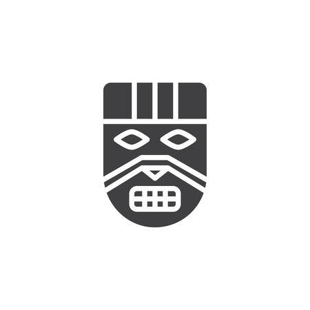 Ancient tribal mask vector icon. filled flat sign for mobile concept and web design. African mask simple solid icon. Symbol, logo illustration. Pixel perfect vector graphics