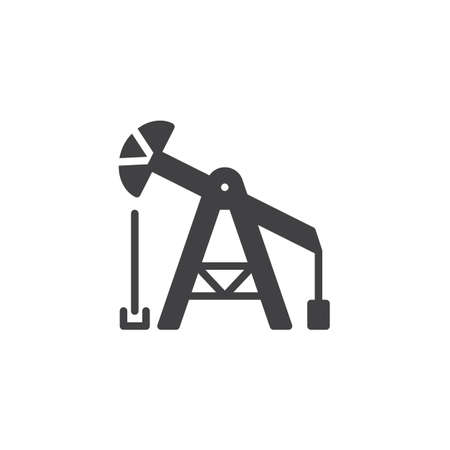 Oil pump vector icon. filled flat sign for mobile concept and web design. oil derrick simple solid icon. Symbol, logo illustration. Pixel perfect vector graphics