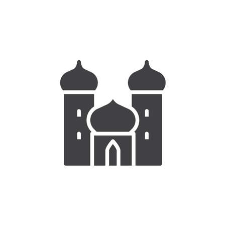 Arabian palace vector icon. filled flat sign for mobile concept and web design. Castle simple solid icon. Mosque symbol, logo illustration. Pixel perfect vector graphics
