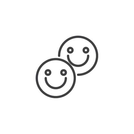 Tablet LSD outline icon. linear style sign for mobile concept and web design. Smiling Pills simple line vector icon. Symbol, logo illustration. Pixel perfect vector graphics