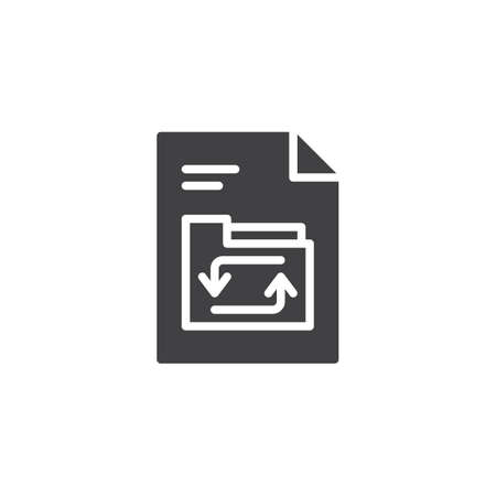 Refresh Folder file document vector icon. filled flat sign for mobile concept and web design. File transfer simple solid icon. Symbol, logo illustration. Pixel perfect vector graphics Illustration