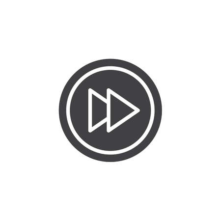 Rewind button vector icon. filled flat sign for mobile concept and web design. Media player button rewind simple solid icon. Symbol, logo illustration. Pixel perfect vector graphics