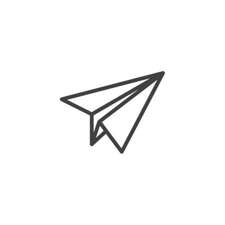 Paper Plane outline icon. linear style sign for mobile concept and web design. Airplane simple line vector icon. Message symbol, logo illustration. Pixel perfect vector graphics