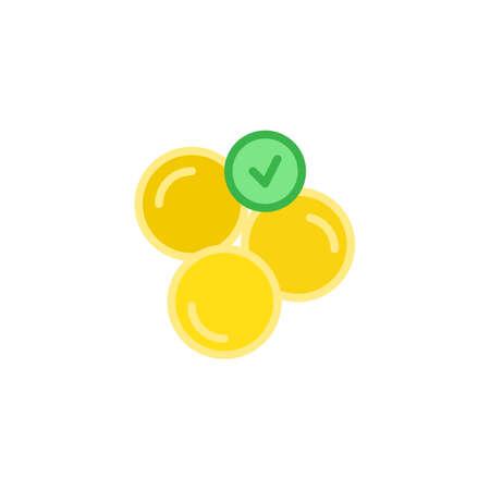 Soft capsules flat icon, vector sign, colorful pictogram isolated on white. Medicine pills symbol, logo illustration. Flat style design