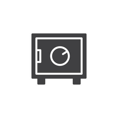 Strongbox vector icon. filled flat sign for mobile concept and web design. Safe box simple solid icon. Safe symbol, illustration pixel perfect vector graphics.