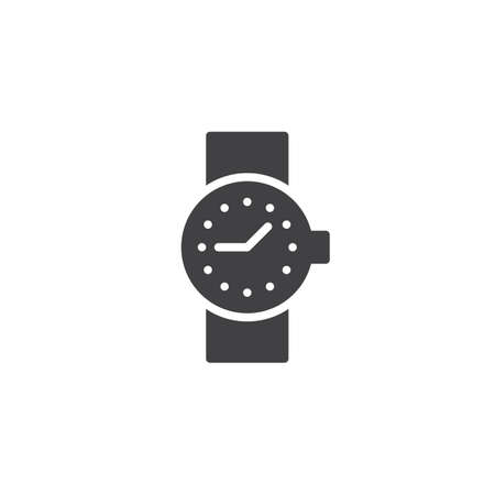 Wrist watch vector icon. filled flat sign for mobile concept and web design. Clock simple solid icon. Symbol, logo illustration. Pixel perfect vector graphics