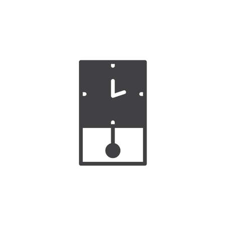 Retro wall clock vector icon. filled flat sign for mobile concept and web design. Vintage watch simple solid icon. Symbol, logo illustration. Pixel perfect vector graphics