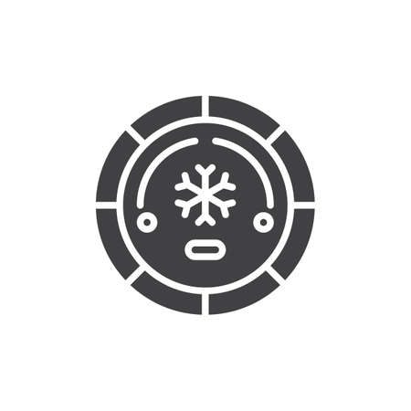 Air conditioning button vector icon. filled flat sign for mobile concept and web design. Air conditioner car switch simple solid icon. Symbol, logo illustration. Pixel perfect vector graphics Stock Photo