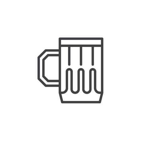 Beer mug outline icon. linear style sign for mobile concept and web design. Beer glass simple line vector icon. Symbol, logo illustration. Pixel perfect vector graphics