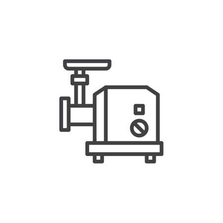 Electric Meat grinder outline icon. linear style sign for mobile concept and web design. kitchenware simple line vector icon. Symbol, logo illustration. Pixel perfect vector graphics
