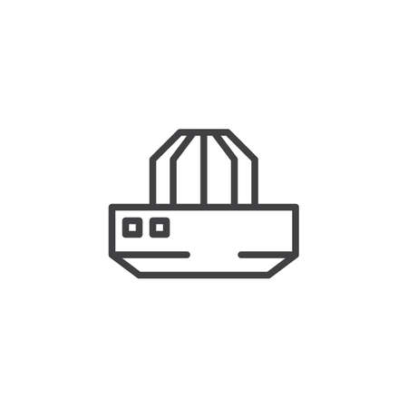 Lemon squeezer outline icon. linear style sign for mobile concept and web design. Juicer Squeezer simple line vector icon. Symbol, logo illustration. Pixel perfect vector graphics Illustration