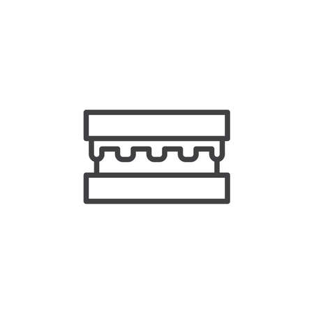 Hamburger outline icon. linear style sign for mobile concept and web design. Burger, fast food simple line vector icon. Symbol, logo illustration. Pixel perfect vector graphics 일러스트