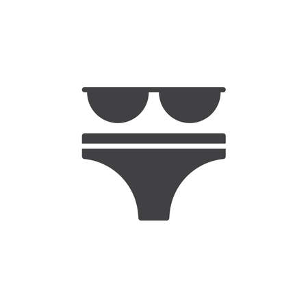 Bikini swimsuit vector icon. filled flat sign for mobile concept and web design. Bikini suit simple solid icon. Symbol, logo illustration. Pixel perfect vector graphics