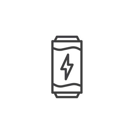 Energy drink outline icon. linear style sign for mobile concept and web design. Tin can drink simple line vector icon. Symbol, logo illustration. Pixel perfect vector graphics