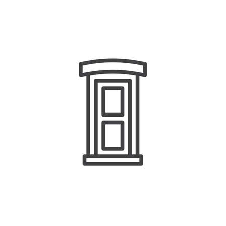 Public toilet outline icon. linear style sign for mobile concept and web design. Portable street toilet simple line vector icon. Symbol, logo illustration. Pixel perfect vector graphics