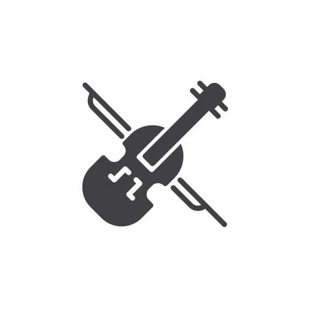 Violin vector icon. filled flat sign for mobile concept and web design. Classical musical instrument solid icon. Symbol, logo illustration. Pixel perfect vector graphics