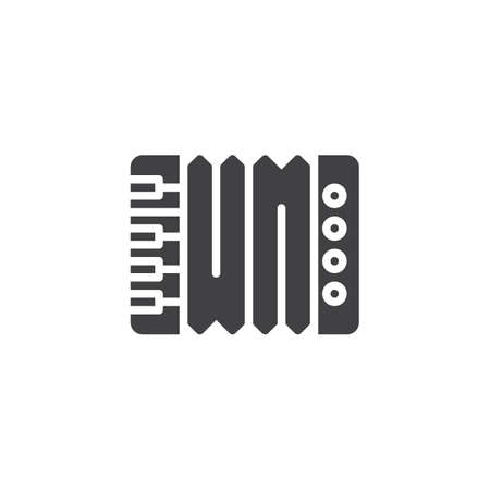 Accordion vector icon. filled flat sign for mobile concept and web design. Music instrument simple solid icon. Symbol, logo illustration. Pixel perfect vector graphics