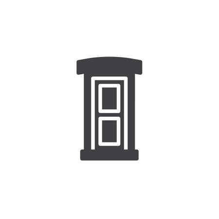 Public toilet vector icon. filled flat sign for mobile concept and web design. Portable street toilet simple solid icon. Symbol, logo illustration. Pixel perfect vector graphics