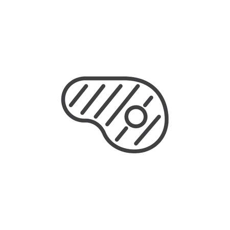 T-bone beef steak outline icon. linear style sign for mobile concept and web design. Ribeye steak simple line vector icon. Symbol, logo illustration. Pixel perfect vector graphics