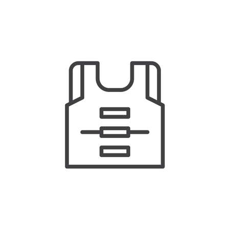 Life vest outline icon. linear style sign for mobile concept and web design. life jacket simple line vector icon. Symbol, logo illustration. Pixel perfect vector graphics