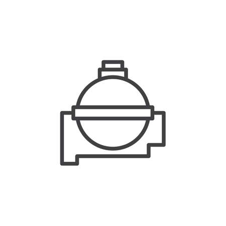 Water flask outline icon. linear style sign for mobile concept and web design. Camping flask simple line vector icon. Symbol, logo illustration. Pixel perfect vector graphics Stock Illustratie