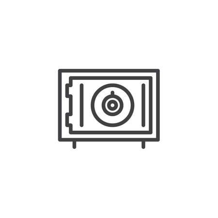 Bank safe outline icon. linear style sign for mobile concept and web design. Safebox simple line vector icon. Symbol, logo illustration. Pixel perfect vector graphics