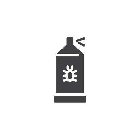 Bug sprayer vector icon. filled flat sign for mobile concept and web design. Bug disinfection simple solid icon. Repellant symbol, logo illustration. Pixel perfect vector graphics Vectores