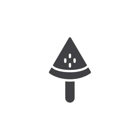 Watermelon ice cream vector icon. filled flat sign for mobile concept and web design. Popsicle simple solid icon. Symbol, logo illustration. Pixel perfect vector graphics