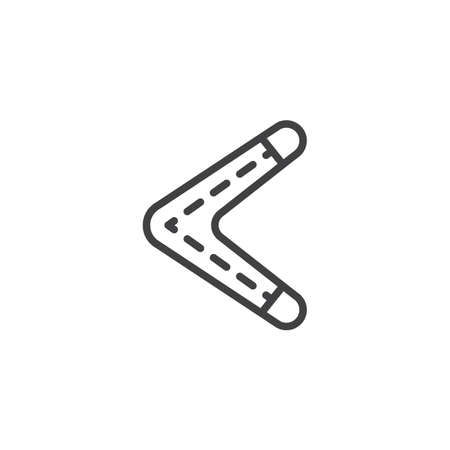 Boomerang outline icon. linear style sign for mobile concept and web design. Australian boomerang simple line vector icon. Symbol, logo illustration. Pixel perfect vector graphics