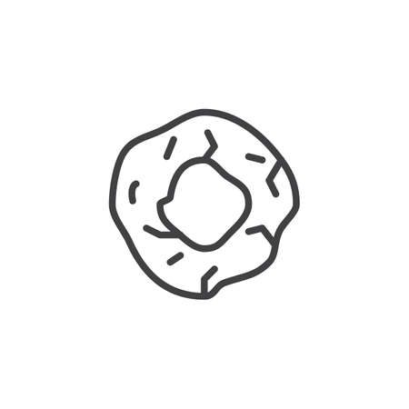 Prehistoric wheel outline icon. linear style sign for mobile concept and web design. Stone wheel simple line vector icon. Symbol, logo illustration. Pixel perfect vector graphics