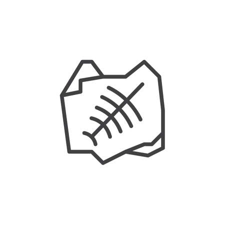 Fossil trilobite imprint outline icon. linear style sign for mobile concept and web design. simple line vector icon. Symbol, logo illustration. Pixel perfect vector graphics Illustration