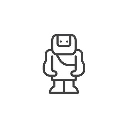 Troglodyte outline icon. linear style sign for mobile concept and web design. simple line vector icon. Symbol, logo illustration. Pixel perfect vector graphics Stock Photo
