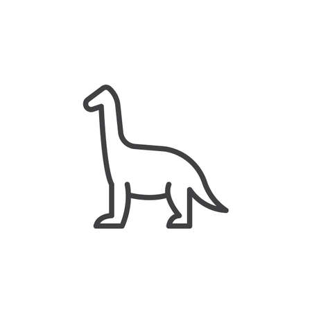 Dinosaur outline icon. linear style sign for mobile concept and web design. Brachiosaurus simple line vector icon. Symbol, logo illustration. Pixel perfect vector graphics