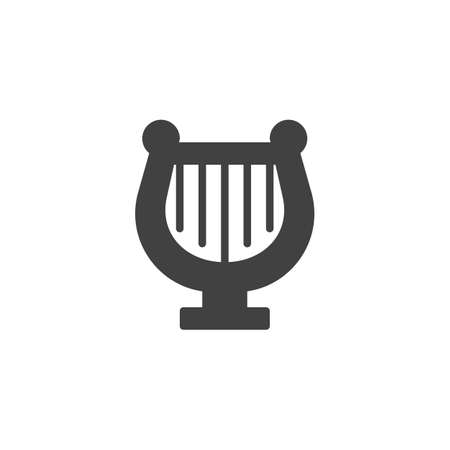 Harp vector icon. filled flat sign for mobile concept and web design. Lyre simple solid icon. Symbol, logo illustration. Pixel perfect vector graphics