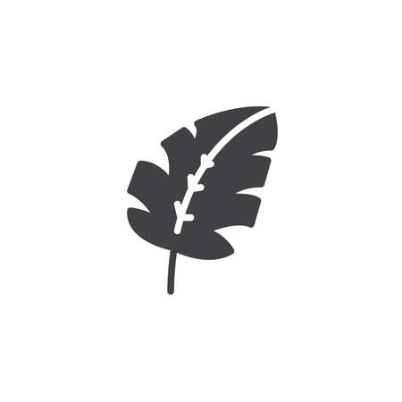Tropical leaf vector icon. filled flat sign for mobile concept and web design. Monstera Leaf Plant simple solid icon. Symbol, logo illustration. Pixel perfect vector graphics Illustration