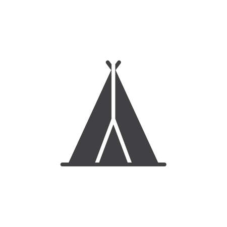 Indian tepee vector icon. filled flat sign for mobile concept and web design. Wigwam simple solid icon. Symbol, logo illustration. Pixel perfect vector graphics