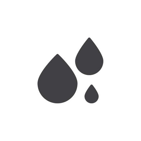 Water drops vector icon. filled flat sign for mobile concept and web design. liquid droplet simple solid icon. Symbol, logo illustration. Pixel perfect vector graphics Ilustração