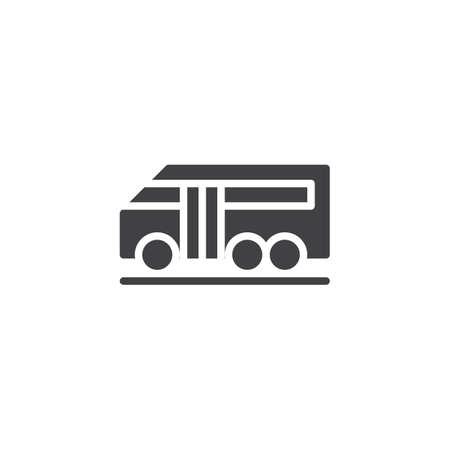 Airport bus vector icon. filled flat sign for mobile concept and web design. simple solid icon. Symbol, logo illustration. Pixel perfect vector graphics