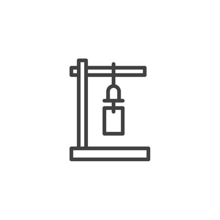 Japanese wind bell outline icon. linear style sign for mobile concept and web design. Wind chime simple line vector icon. Symbol, logo illustration. Pixel perfect vector graphics Illustration