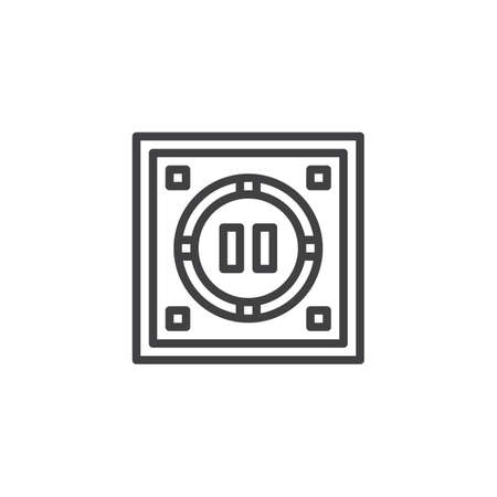 Japanese dohyo outline icon. linear style sign for mobile concept and web design. Sumo arena top view simple line vector icon. Symbol, logo illustration. Pixel perfect vector graphics