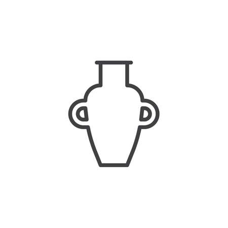Amphora vase outline icon. linear style sign for mobile concept and web design. Egyptian amphora simple line vector icon. Symbol, logo illustration. Pixel perfect vector graphics