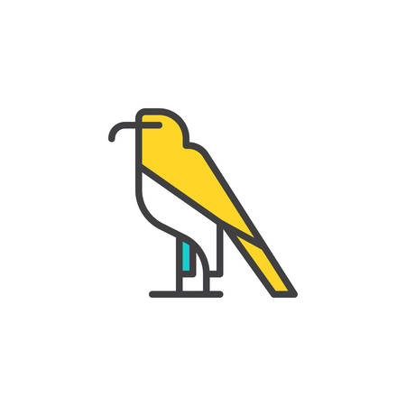 Eagle filled outline icon, line vector sign, linear colorful pictogram isolated on white. Bird of prey symbol, logo illustration. Pixel perfect vector graphics Illustration