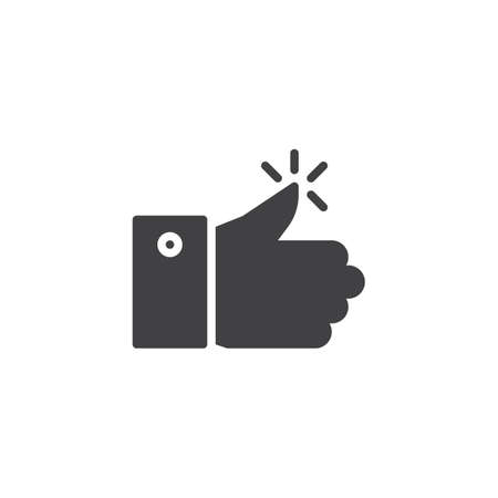 Ok vector icon. filled flat sign for mobile concept and web design. Thumbs up simple solid icon. Approving gesture symbol, illustration. Pixel perfect vector graphics