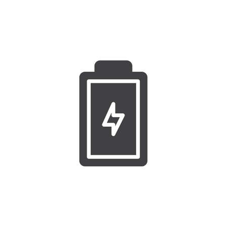 Battery status vector icon. filled flat sign for mobile concept and web design. battery charge level indicator simple solid icon. Symbol, illustration. Pixel perfect vector graphics