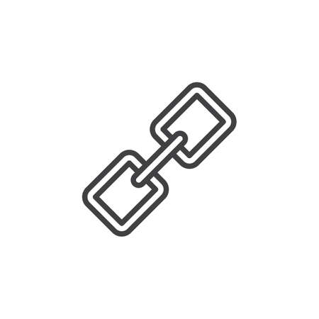 Link outline icon. linear style sign for mobile concept and web design. Chain simple line vector icon. Symbol, logo illustration. Pixel perfect vector graphics