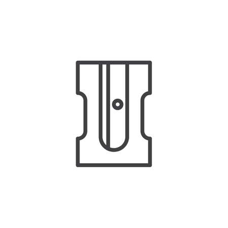Pencil sharpener outline icon. linear style sign for mobile concept and web design. simple line vector icon. Stationery symbol, logo illustration. Pixel perfect vector graphics Logo