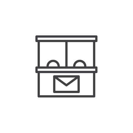 Post office outline icon. linear style sign for mobile concept and web design. simple line vector icon. Symbol, logo illustration. Pixel perfect vector graphics