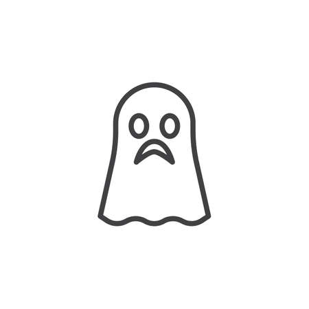 Ghost outline icon. linear style sign for mobile concept and web design. halloween simple line vector icon. Symbol, logo illustration. Pixel perfect vector graphics