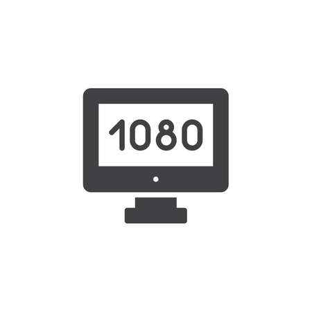 Widescreen tv vector icon. filled flat sign for mobile concept and web design. Full hd 1080p TV simple solid icon. Symbol, logo illustration. Pixel perfect vector graphics Stock Photo